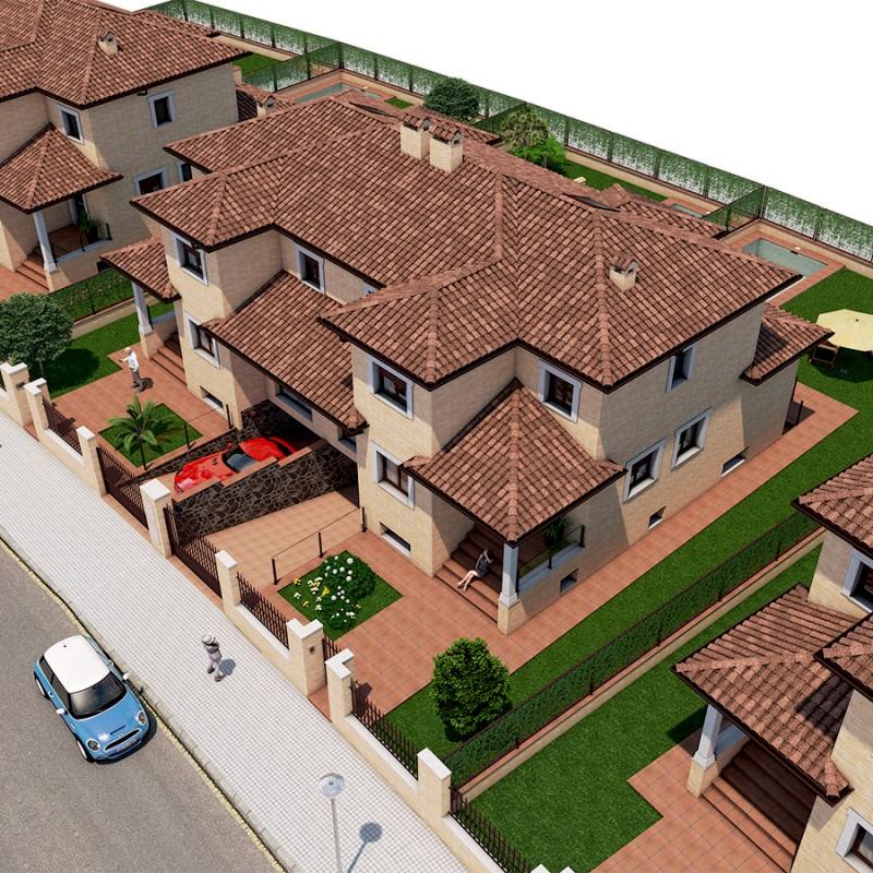 Residencial Galicia - Vista aerea